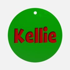 Kellie Green and Red Ornament (Round)