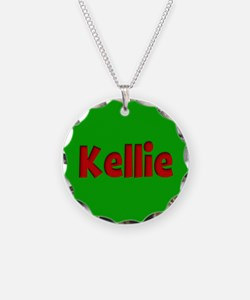 Kellie Green and Red Necklace
