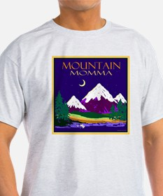 Mountain Momma Ash Grey T-Shirt