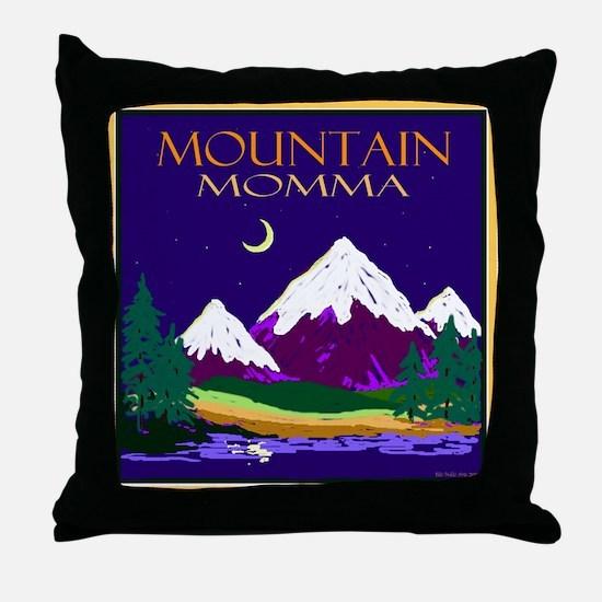 Mountain Momma Throw Pillow