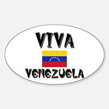 Viva Venezuela Oval Decal