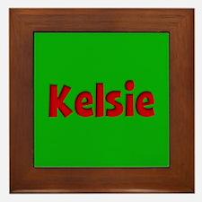 Kelsie Green and Red Framed Tile