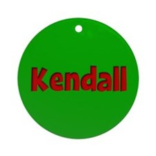 Kendall Green and Red Ornament (Round)