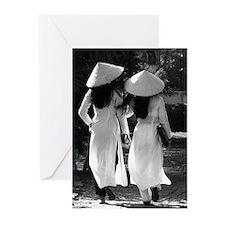 Vietnamese Girls Greeting Cards (Pk of 10)
