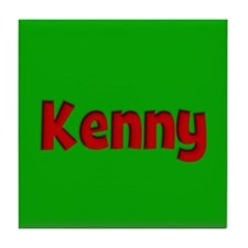 Kenny Green and Red Tile Coaster