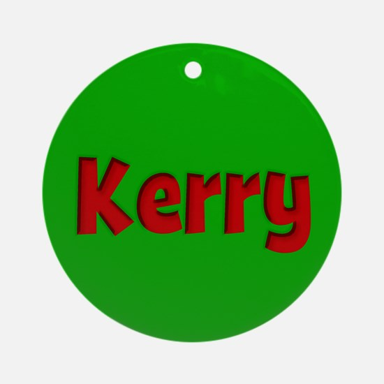 Kerry Green and Red Ornament (Round)