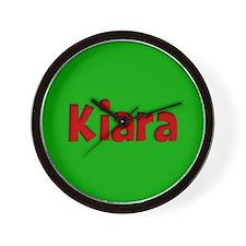 Kiara Green and Red Wall Clock
