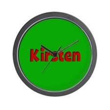 Kirsten Green and Red Wall Clock