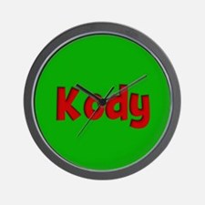 Kody Green and Red Wall Clock