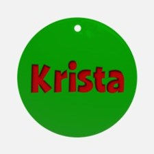 Krista Green and Red Ornament (Round)