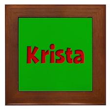Krista Green and Red Framed Tile