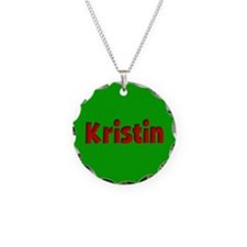 Kristin Green and Red Necklace