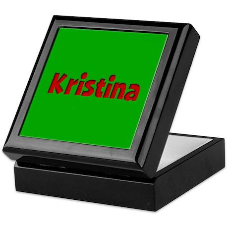 Kristina Green and Red Keepsake Box