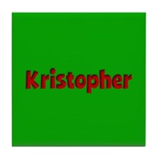 Kristopher Green and Red Tile Coaster