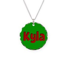 Kyla Green and Red Necklace