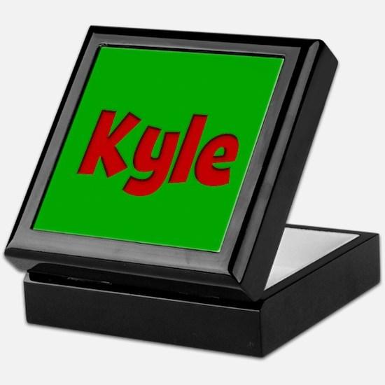 Kyle Green and Red Keepsake Box