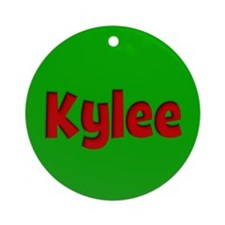 Kylee Green and Red Ornament (Round)