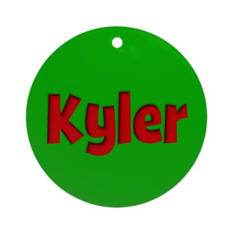 Kyler Green and Red Ornament (Round)