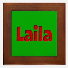 Laila Green and Red Framed Tile