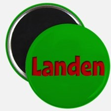 Landen Green and Red Magnet