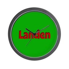 Landen Green and Red Wall Clock