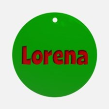 Lorena Green and Red Ornament (Round)