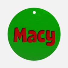 Macy Green and Red Ornament (Round)
