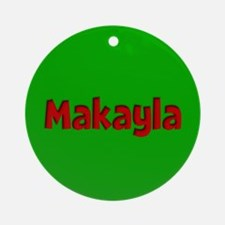 Makayla Green and Red Ornament (Round)