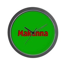 Makenna Green and Red Wall Clock