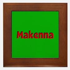 Makenna Green and Red Framed Tile