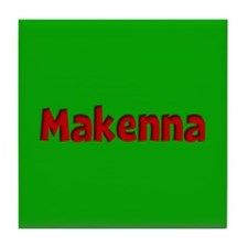 Makenna Green and Red Tile Coaster