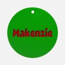 Makenzie Green and Red Ornament (Round)