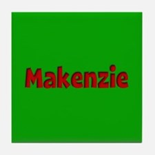 Makenzie Green and Red Tile Coaster