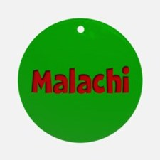 Malachi Green and Red Ornament (Round)
