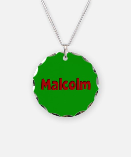 Malcolm Green and Red Necklace