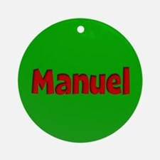 Manuel Green and Red Ornament (Round)