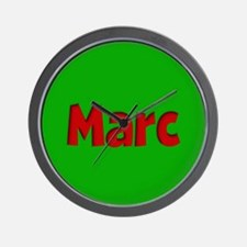 Marc Green and Red Wall Clock