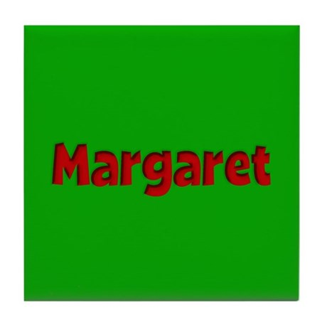 Margaret Green and Red Tile Coaster