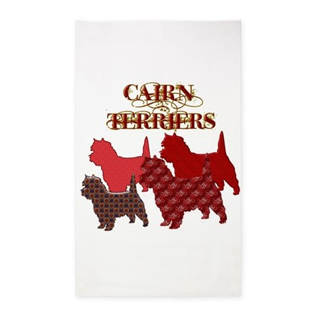 CAIRNTERRIERSSILHOUETTE.png 3'x5' Area Rug