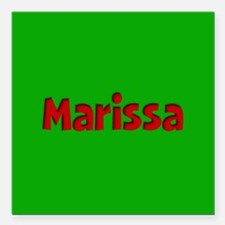 """Marissa Green and Red Square Car Magnet 3"""" x 3"""""""