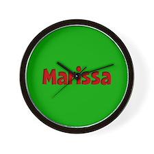Marissa Green and Red Wall Clock