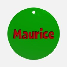 Maurice Green and Red Ornament (Round)