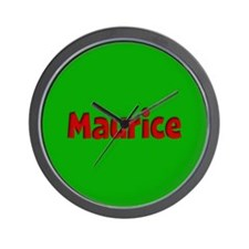 Maurice Green and Red Wall Clock