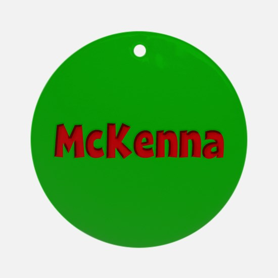 McKenna Green and Red Ornament (Round)