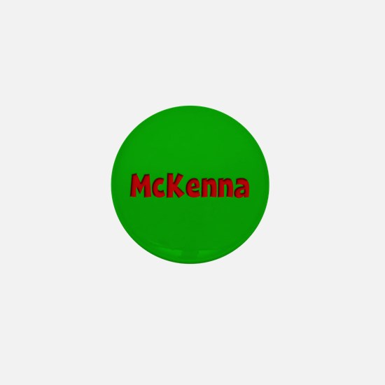 McKenna Green and Red Mini Button