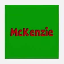 McKenzie Green and Red Tile Coaster