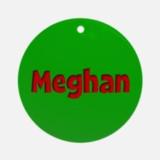 Meghan Green and Red Ornament (Round)