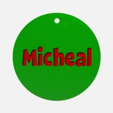 Micheal Green and Red Ornament (Round)