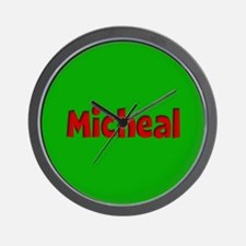 Micheal Green and Red Wall Clock