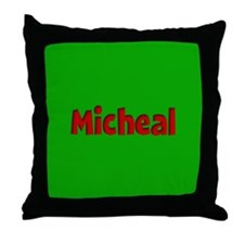 Micheal Green and Red Throw Pillow